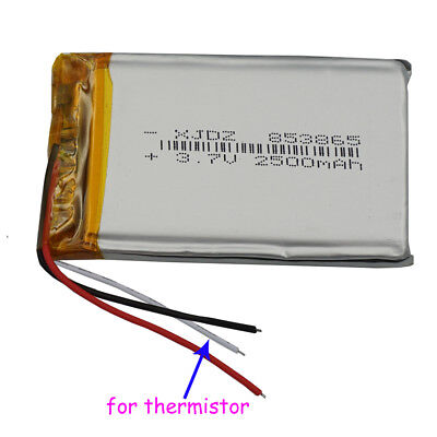 3 wire 3.7V 2500mAh Polymer Li battery Lipo thermistor For GPS tablet PC 853865