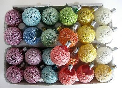 25 VTG GE Iced Sugared Snowball C-7 Christmas Lights - Tested & Work ...