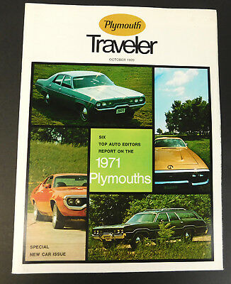 Vtg 1970 Special New Car Issue Plymouth Traveler Magazine Full Issue 21 Pages