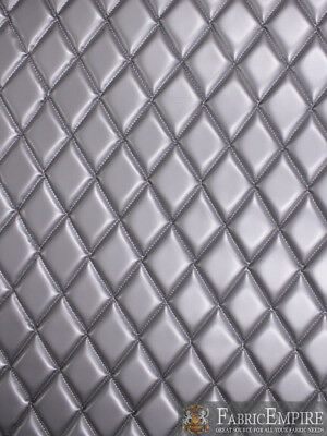 Vinyl Upholstery Grey Diamond Quilted Fabric With 3 8 Foam Backing