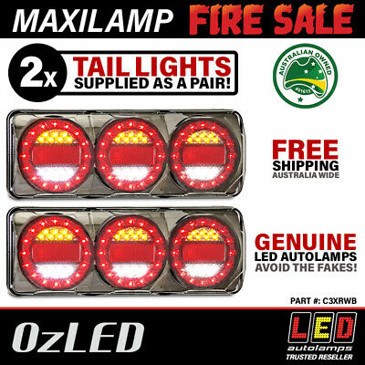Genuine LED Maxilamp 3 Series Combination Tail Lights (Pair) STOP/TAIL/INDICATOR