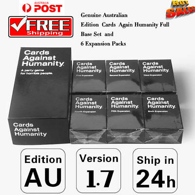 Cards Game Against Humanity Base + Expans 1-6 AU V1.7 Party Card Game Gifts Free