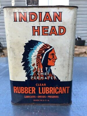 Chief Permatex  Lubricant 1 Gallon Oil Can Motorcycle Indian Vintage