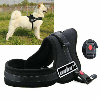 Adjustable Soft Thick Padded Fleece Lined No Pull Dog Walking Harness Reflective
