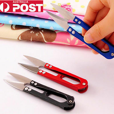 U Shape Metal Stainless Steel Scissors Beading Thread Cutter Sewing Clippers Au