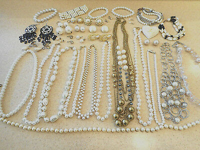 Awesome 33 Pc Mixed Lot Vintage/Estate/Modern Costume Jewelry ALL WEARABLE 1+Lbs