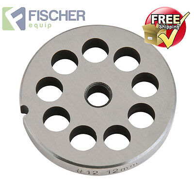 """new"" Mincer - Grinder Cutting Plate 12Mm For #12 Mincer - Other Sizes Available"