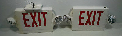 Electric Exit Sign Lot Of 4
