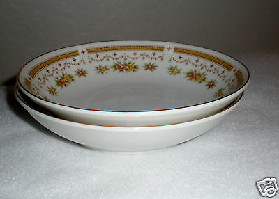 "2-Pc. Empress Fine China Fruit Bowls ""Normandy"" Pattern #1032 - Made in Japan"