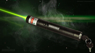ShadowHawk Green Tactical Laser Pointer Lazer Pen Visible Beam Light, 18650