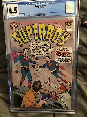 SUPERBOY #68 (1958) CGC 4.5 OW  Origin and 1st appearance BIZARRO  Silver Age