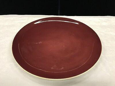 Vintage Martin Boyd Red Glazed Charger Signed To Base