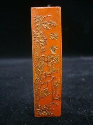 On Sales! Quality Old Chinese Carving Man Cinnabar Ink Stick