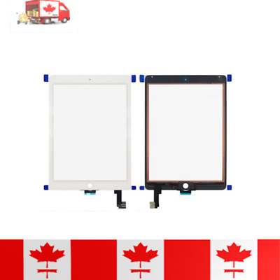 iPad Air 2 White Touch Screen Digitizer, Home Button, Adhesive & Tempered Glass