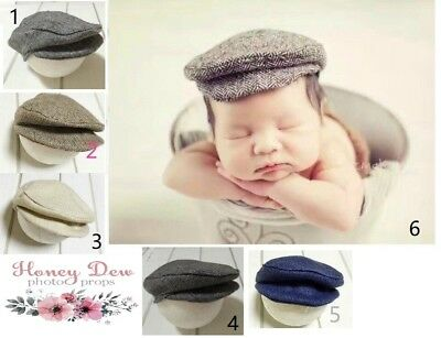 NEW Newborn Baby Boy Cap, Photo Prop, hat beanie Newborn Photography
