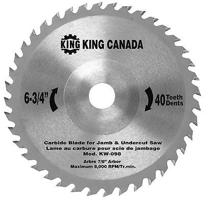 King Canada Tools KW-098 REPLACEMENT CARBIDE SAW BLADE FOR 8363 JAMB UNDERCUT