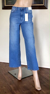 Uniqlo Women Blue High Rise Wide Fit Jeans Nwt Size 26