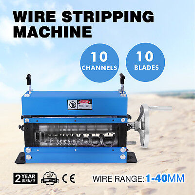 Manual Wire Stripping Machine 40mm 10 blades 1-40mm Stripper Scrap GREAT POPULAR