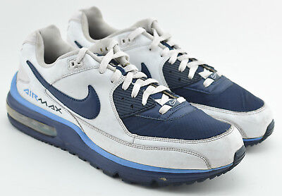e12efdd359 Mens Nike Air Max Wright Running Shoes Size 13 Us White Navy Blue 317551 144