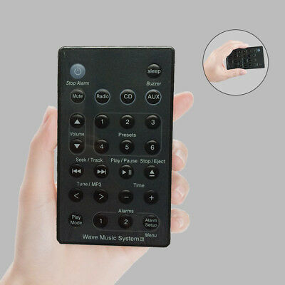 New Remote (Black) For Bose Wave Radio/CD Music System AWRC-C2 AWRC-C3 A7J7