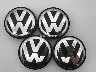 4 PCS 56mm Wheel Center Hub Caps Cover Badge Emblem For VOLKSWAGEN VW POLO GOLF