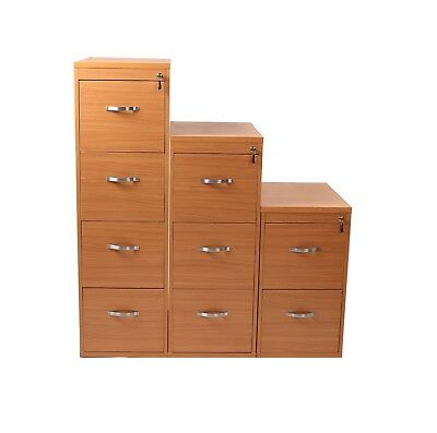 NEW Beech Lockable Filing Cabinets, 2,3 & 4 Drawer Available