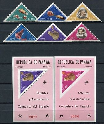 55/SPACE RAUMFAHRT 1964 PANAMA Apollo Gemini 724-29 + Block 19-20 ** MNH