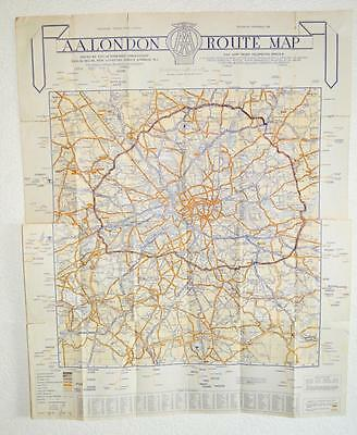OLD AA ROUTE Map London - The West End. - £12.99   PicClick UK