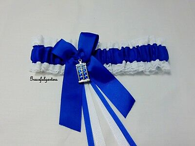 Plus Size Dr Who Tardis bridal wedding garter. timlord. dalek