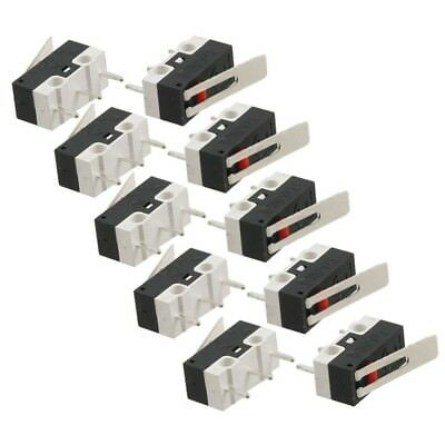 10 Pcs AC 125V 1A SPDT 1NO 1NC Momentary Long Hinge Lever Micro Switch H2B7
