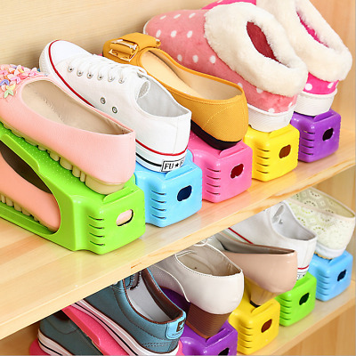Creative Shoes Rack Organizer Space Saving Storage Adjustable Portable 9 Colors