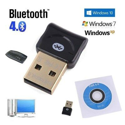 Bluetooth CSR V4.0 Adaptateur USB Dongle EDR pour PC portable Windows 10 8 7 XP