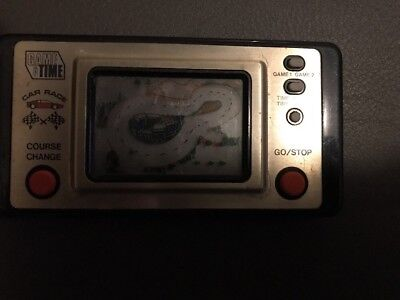 Game And Time Vintage Car Race Hand Held Game