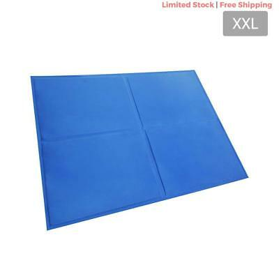 Dog Bed Cooling Water Gel Mat Pet Cat Summer Non-Toxic Cool Pad 81x96cm XXLarge