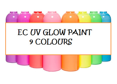 EC UV Glow Paint - 100ml - 9 Colours To Choose From