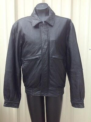 Wilsons Leather Bomber Jacket Black size small