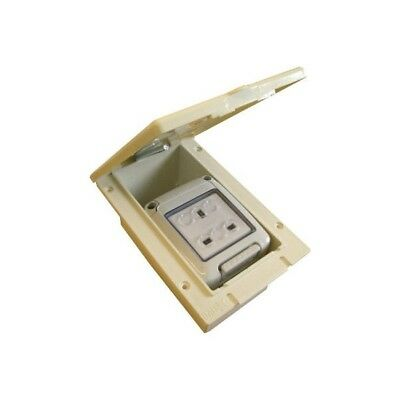 W4 Flush Waterproof Mains Power Outlet White