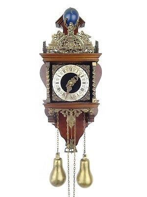 Zaanse Zaandam Dutch Wall Clock Vintage Antique (Warmink Hermle Junghans Era)