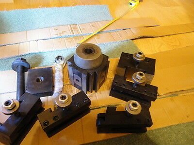 Lathe Very Large Tool Post with Quick Change Tool Holders for One Inch Tooling