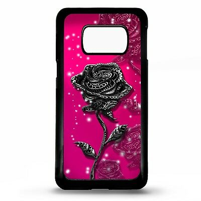 Pink rose floral flower roses art case cover for Samsung Galaxy S6 S7 S8 S9 plus