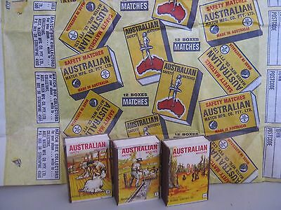 Vintage Australian Safety Matches & Original Package