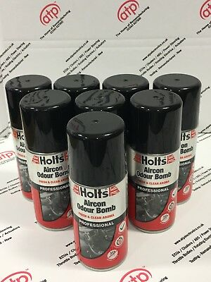 8x Holts Car Air Con Odour Bomb Air Conditioning Neutraliser & Sanitiser Cleaner