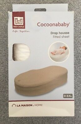 Red Castle Cocoonababy White Fitted Sheet Only Drap Housse