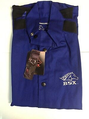Black Stallion BSX BXRB9C Blue FR Welding Jacket With Blue Flames (medium)