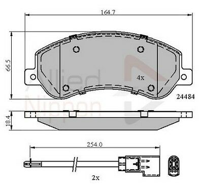 Land Rover Discovery MK3 2.7 TD 17.8mm Thick Allied Nippon Front Brake Pads Set