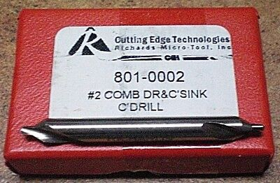 Combined Drill & Countersink/center Drill 3/16  #2  High Speed  Quality Usa Made