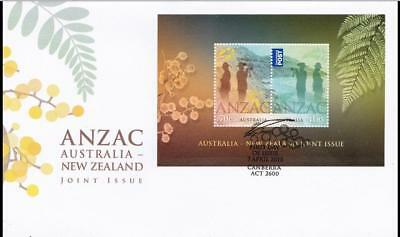Australia 2015 First Day Cover FDC - ANZAC: Australia-New Zealand Joint Issue MS