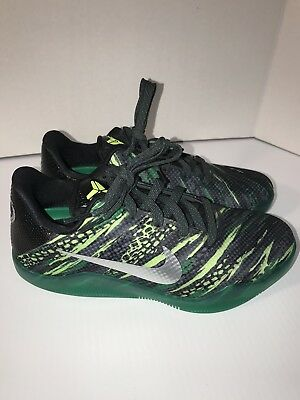quality design 95822 a29a1 NIKE KOBE XI (GS) GREEN SNAKE MAMBA BASKETBALL Sz 5.5Y SHOES NEW 822945