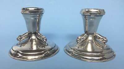 Pair Of Carl Poul Petersen Montreal Sterling Silver Candlesticks
