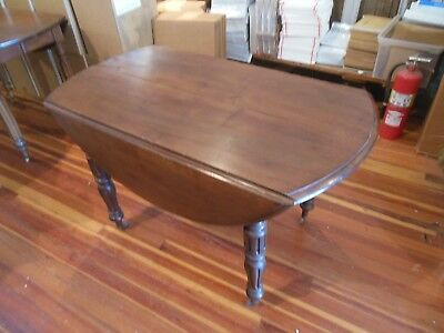 """French Provincial Table Antique French Napoleon III Drop Leaf Table 45"""" diam"""